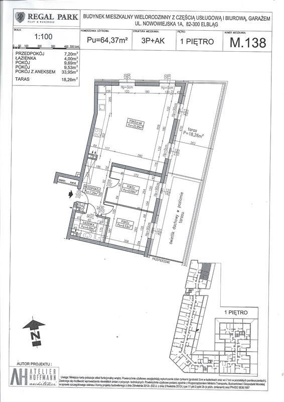 Mieszkanie trzypokojowe na sprzedaż Elbląg, Regal Park, Regal Park, Nowowiejska 1A  84m2 Foto 9
