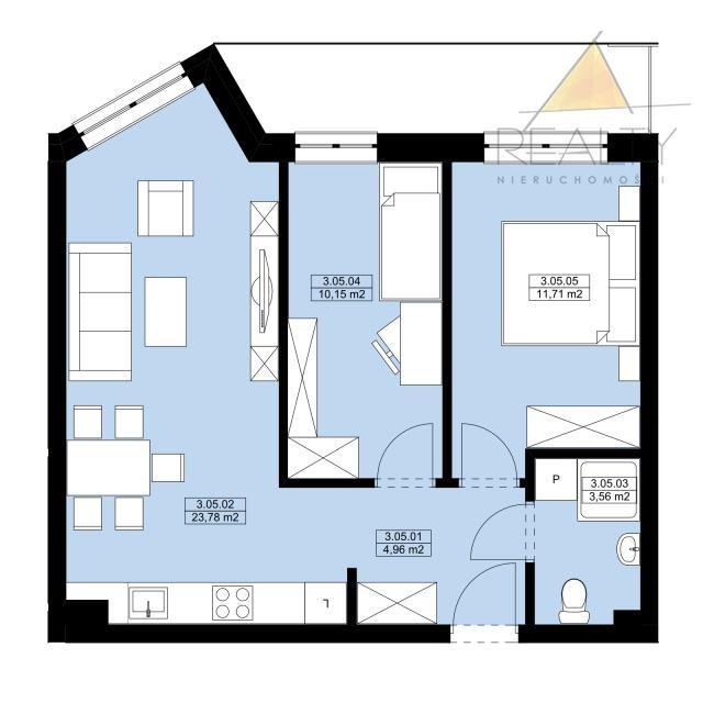 Mieszkanie trzypokojowe na sprzedaż Leszno, Sobieskiego  54m2 Foto 2