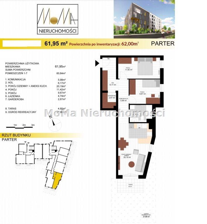 Mieszkanie trzypokojowe na sprzedaż Bydgoszcz, Wyżyny  62m2 Foto 4
