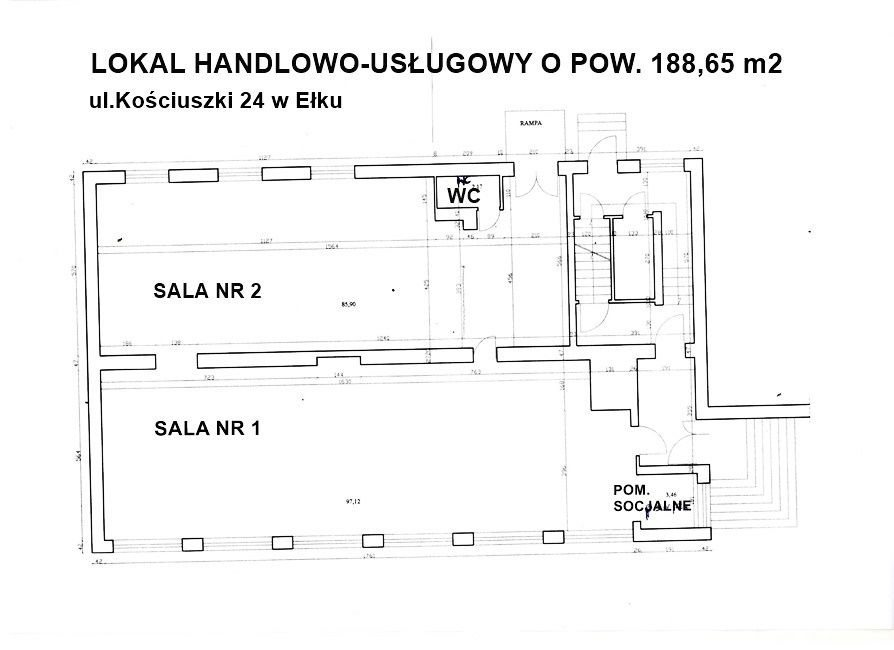 Lokal użytkowy na wynajem Ełk, Centrum  200m2 Foto 1