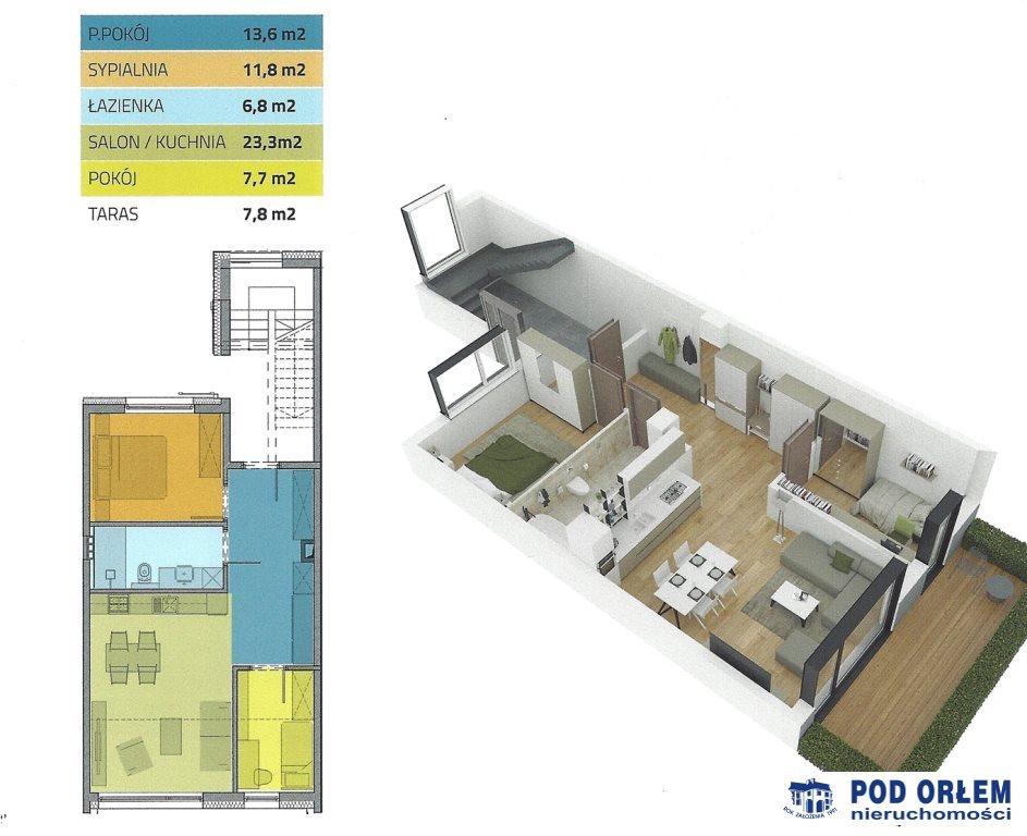 Mieszkanie trzypokojowe na sprzedaż Bielsko-Biała, Lipnik  62m2 Foto 11