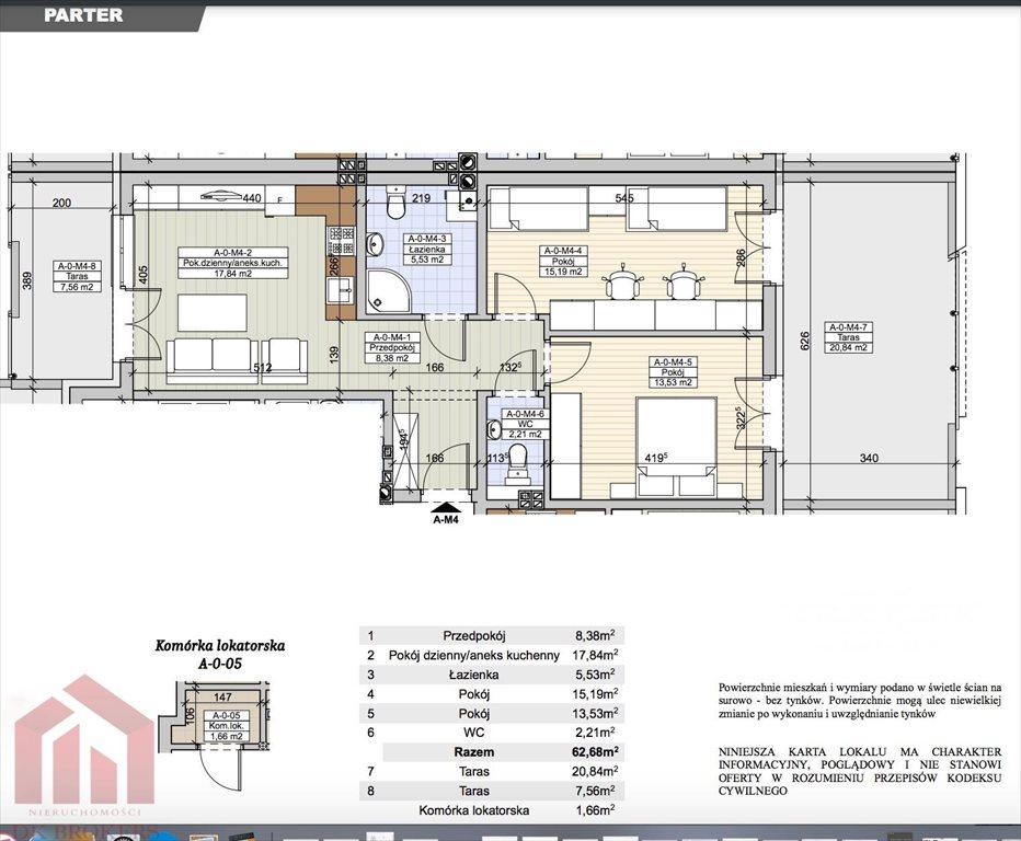 Mieszkanie trzypokojowe na sprzedaż Rzeszów, Staroniwa, Strzelnicza  63m2 Foto 2