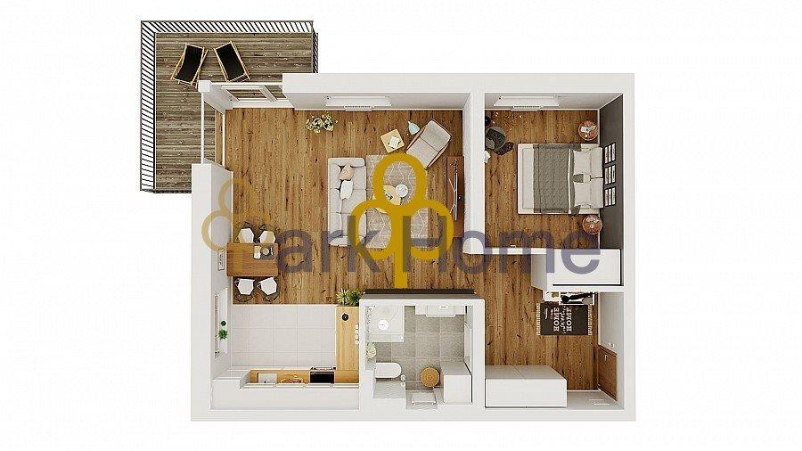 Mieszkanie dwupokojowe na sprzedaż Leszno, Strzyżewice  59m2 Foto 1