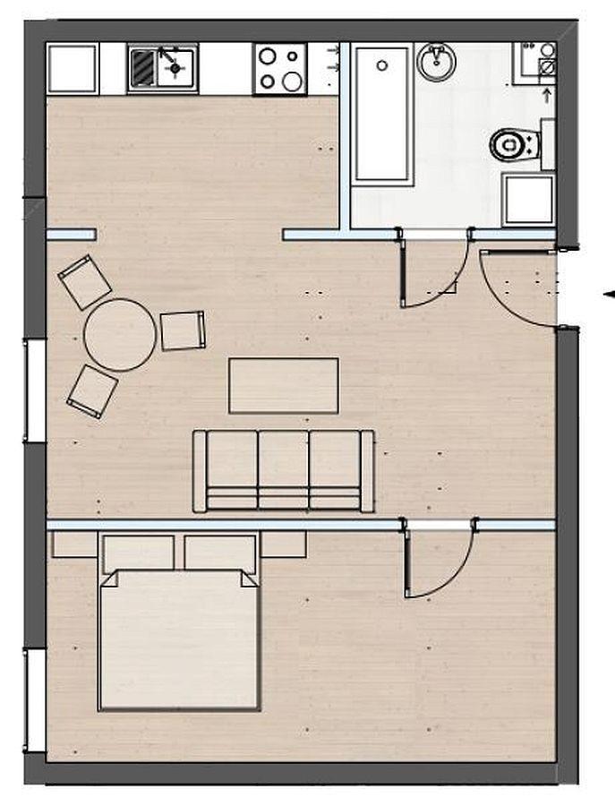Mieszkanie dwupokojowe na sprzedaż Police  43m2 Foto 3