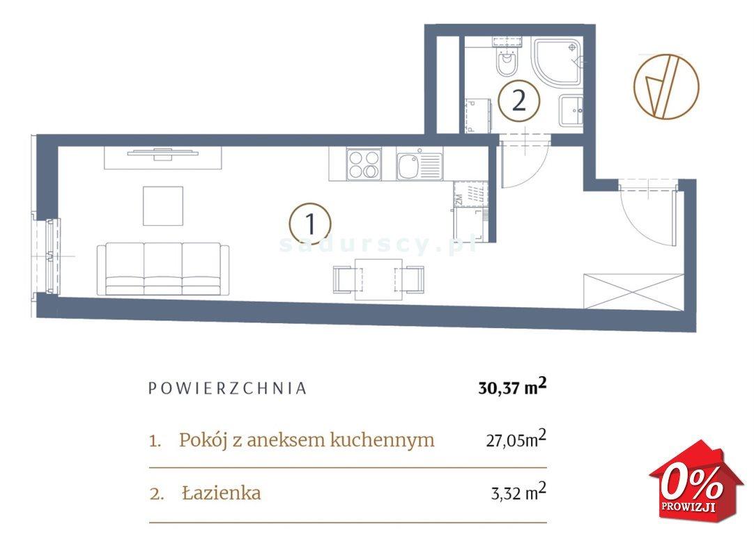 Kawalerka na sprzedaż Kraków, Stare Miasto, Kleparz, Sławkowska - okolice  30m2 Foto 3