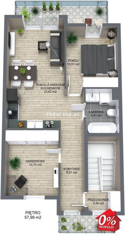 Mieszkanie trzypokojowe na sprzedaż Niepołomice, Portowa  101m2 Foto 5