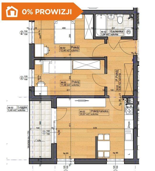 Mieszkanie trzypokojowe na sprzedaż Bydgoszcz, Szwederowo  55m2 Foto 6