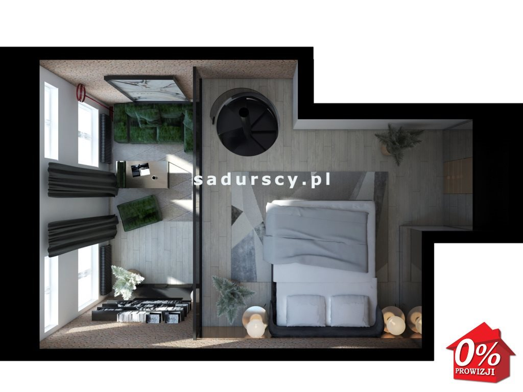 Mieszkanie dwupokojowe na sprzedaż Kraków, Stare Miasto, Kleparz, Filipa - okolice  48m2 Foto 7