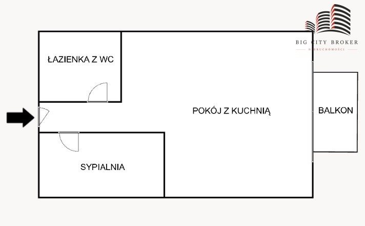 Mieszkanie dwupokojowe na sprzedaż Lublin, Tatary, Gospodarcza  22m2 Foto 6