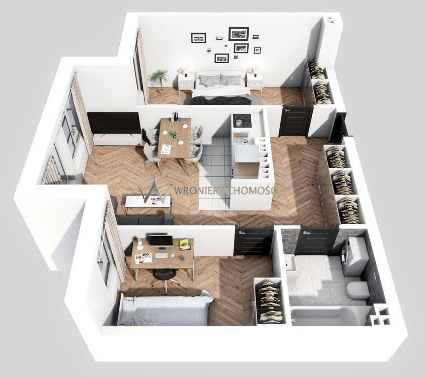Mieszkanie trzypokojowe na sprzedaż Wrocław, Kręta  54m2 Foto 1