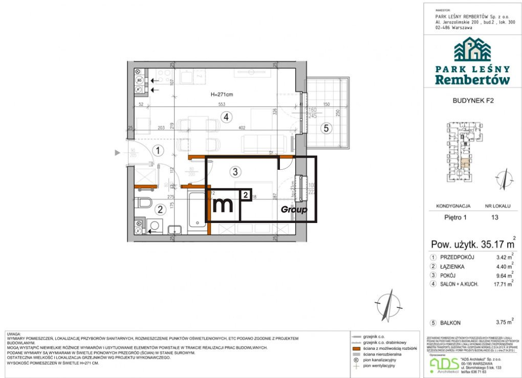 Mieszkanie trzypokojowe na sprzedaż Warszawa, Rembertów, Chełmżyńska  35m2 Foto 2