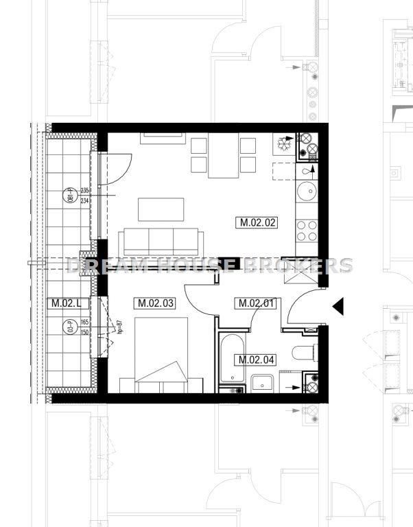 Mieszkanie dwupokojowe na sprzedaż Rzeszów, Krakowska  36m2 Foto 8