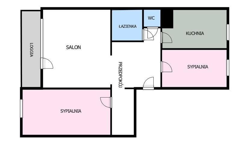 Mieszkanie trzypokojowe na sprzedaż Gdańsk, Zaspa, SKARŻYŃSKIEGO STANISŁAWA  63m2 Foto 3