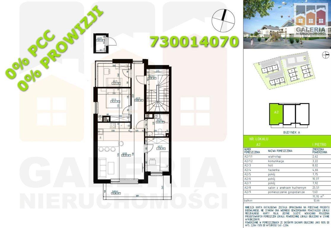 Mieszkanie trzypokojowe na sprzedaż Rzeszów, Wilkowyja  72m2 Foto 1