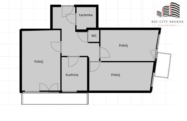 Mieszkanie trzypokojowe na sprzedaż Lublin, Śródmieście  66m2 Foto 1