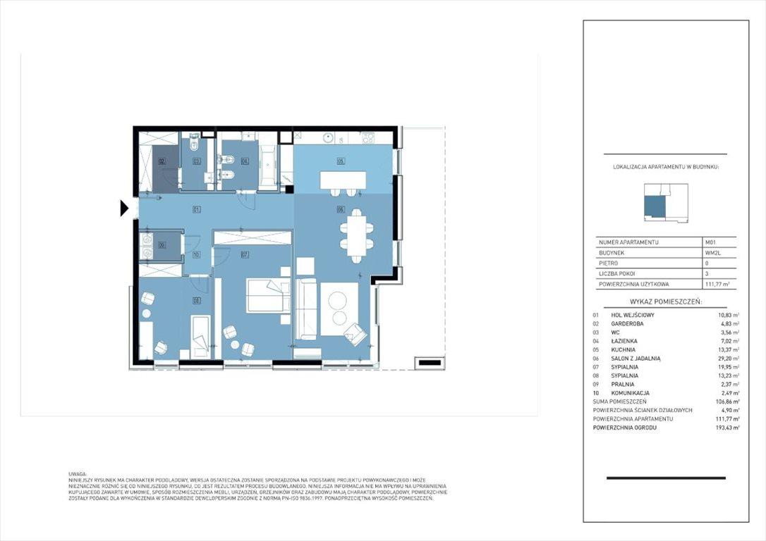 Mieszkanie trzypokojowe na sprzedaż Warszawa, Mokotów, Dolny Mokotów, Białej Koniczyny  111m2 Foto 6