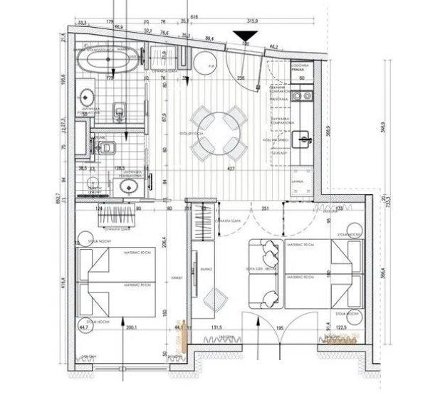 Mieszkanie trzypokojowe na sprzedaż Kraków, Dębniki, Dębniki, gen. Antoniego Józefa Madalińskiego  51m2 Foto 13