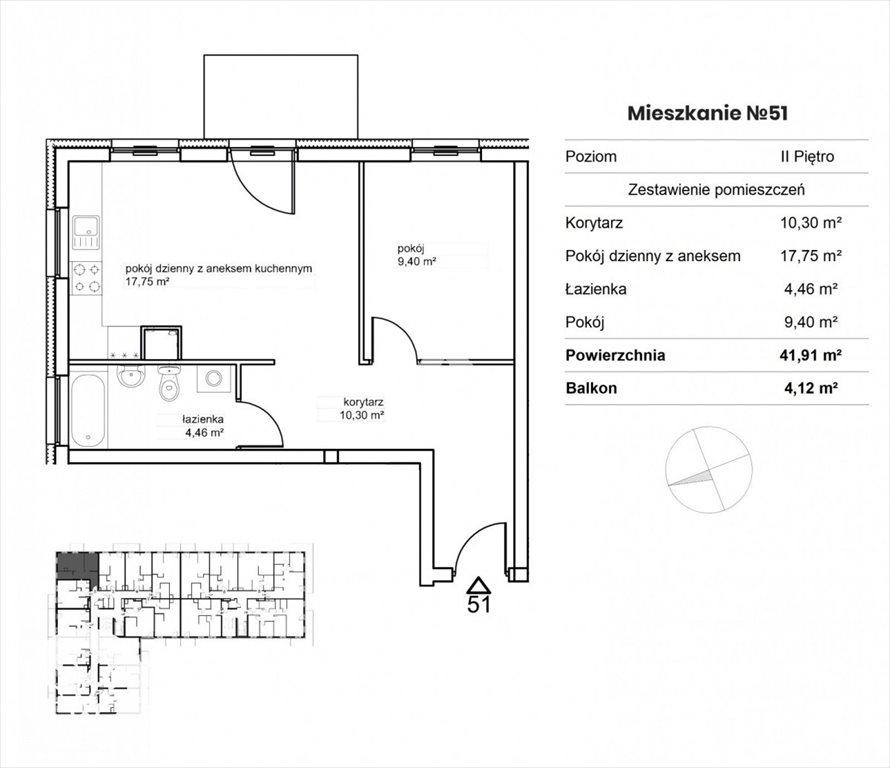 Mieszkanie dwupokojowe na sprzedaż Bydgoszcz, Śródmieście, Garbary  42m2 Foto 3