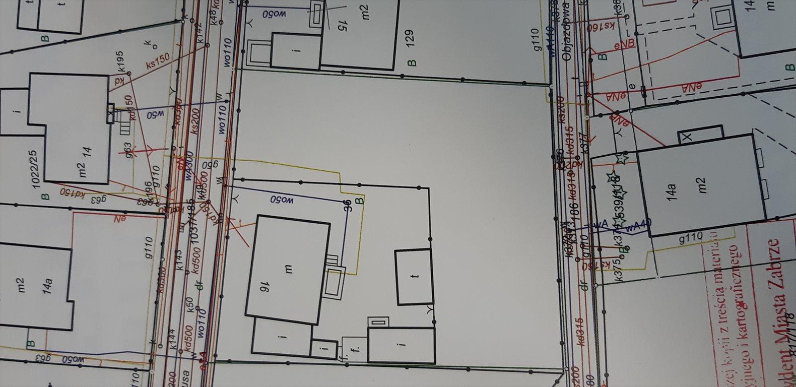 Działka budowlana na sprzedaż Zabrze, Maciejów, ul. prof. Walerego Fontanusa  1450m2 Foto 1