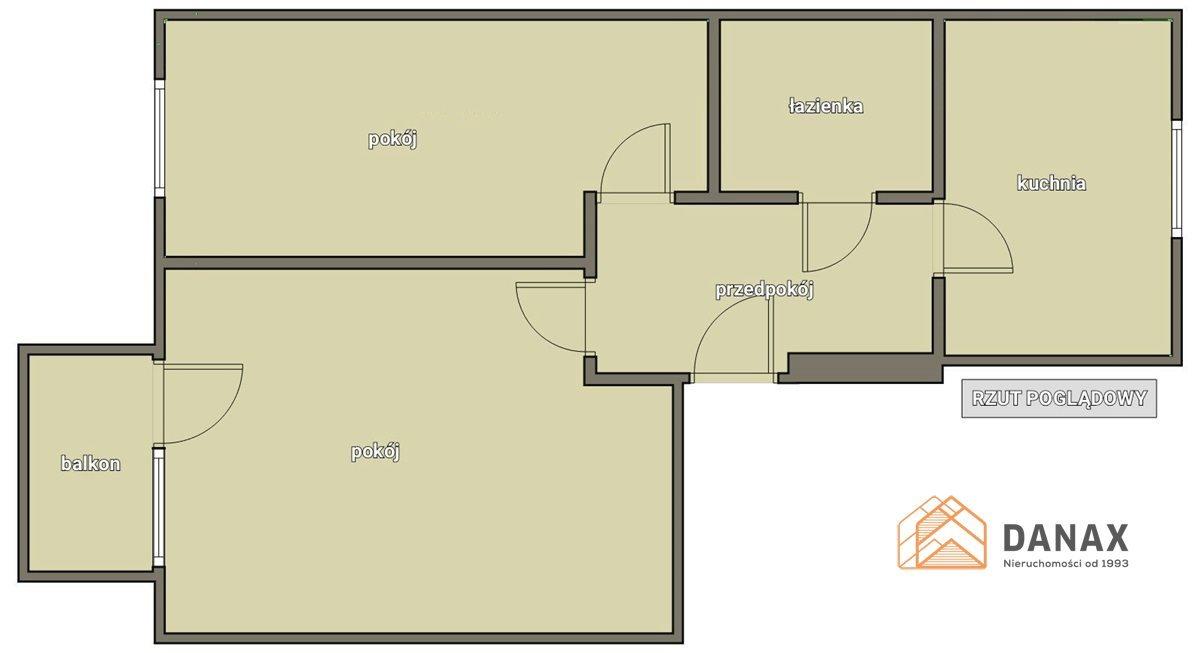 Mieszkanie dwupokojowe na sprzedaż Kraków, Podgórze Duchackie, Wola Duchacka, Włoska  48m2 Foto 2