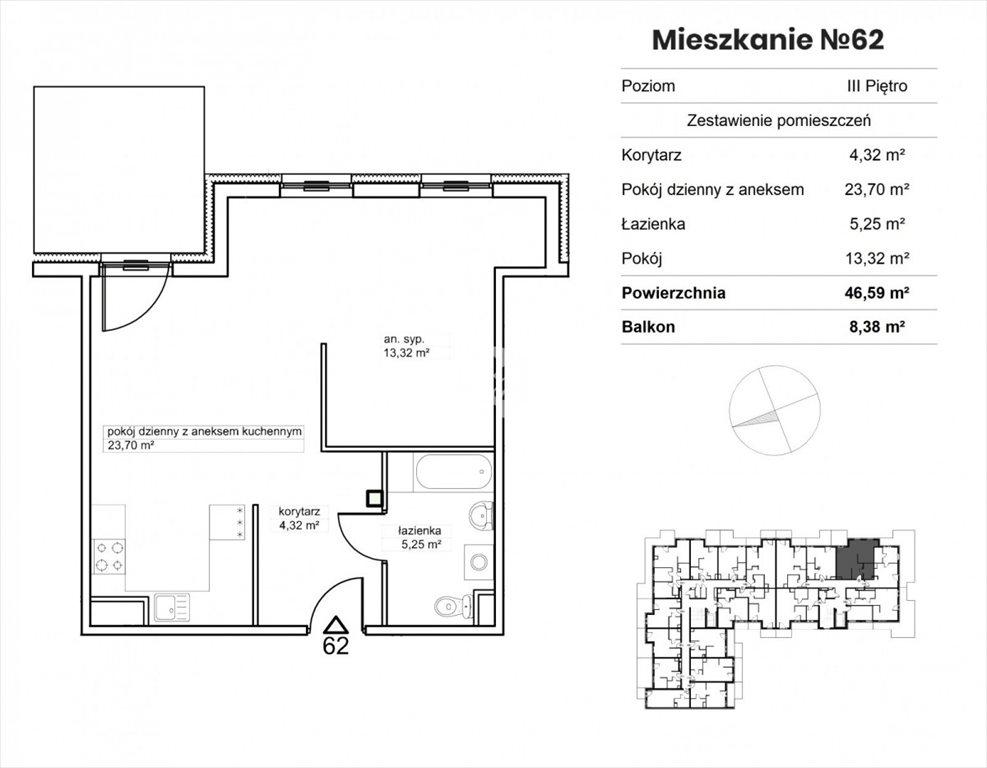 Mieszkanie dwupokojowe na sprzedaż Bydgoszcz, Okole, Garbary  47m2 Foto 8