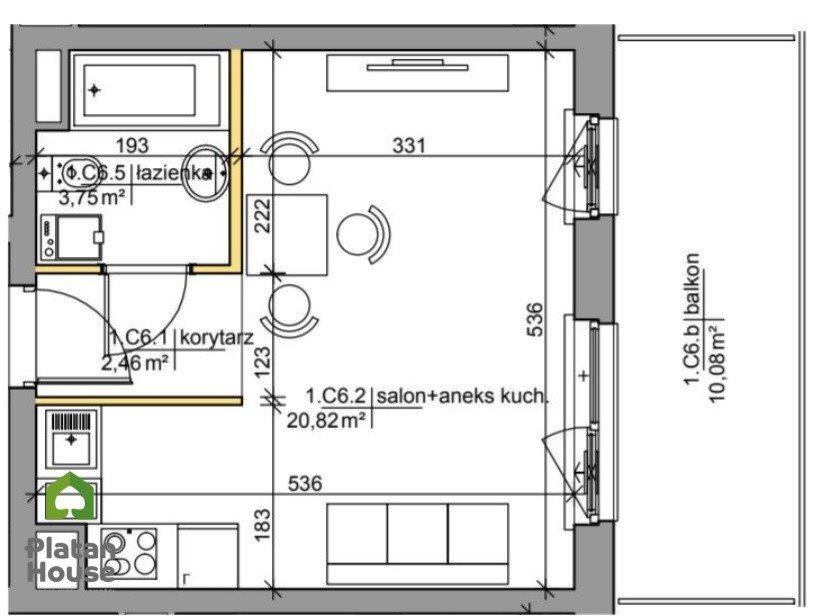 Mieszkanie dwupokojowe na sprzedaż Warszawa, Praga-Południe, Mińska  28m2 Foto 2