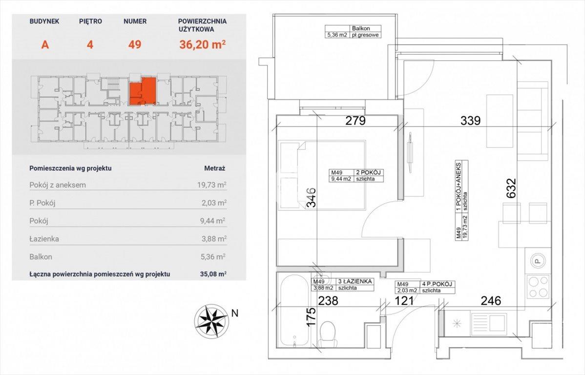 Mieszkanie dwupokojowe na sprzedaż Bydgoszcz, Bocianowo, Pomorska  36m2 Foto 5
