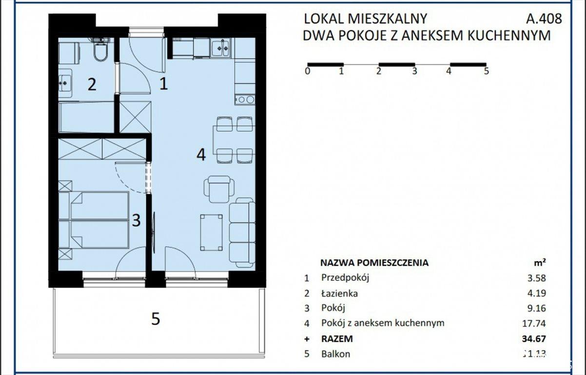 Mieszkanie dwupokojowe na sprzedaż Sianożęty  35m2 Foto 3