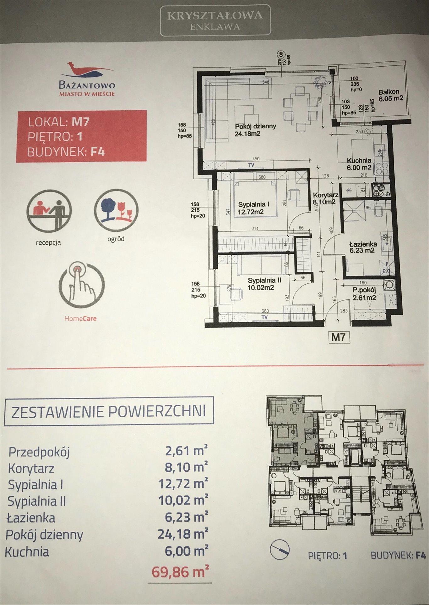 Mieszkanie trzypokojowe na sprzedaż Katowice, Kostuchna, Zabłockiego  69m2 Foto 1