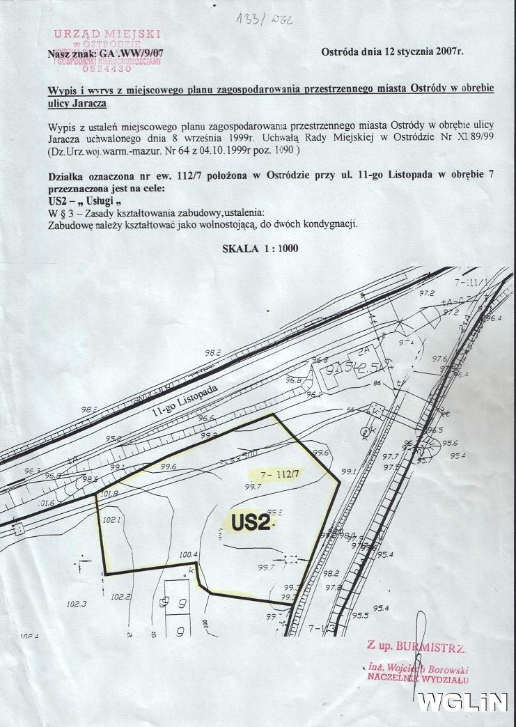 Działka inwestycyjna na sprzedaż Ostróda, ul. 11 Listopada  4890m2 Foto 3