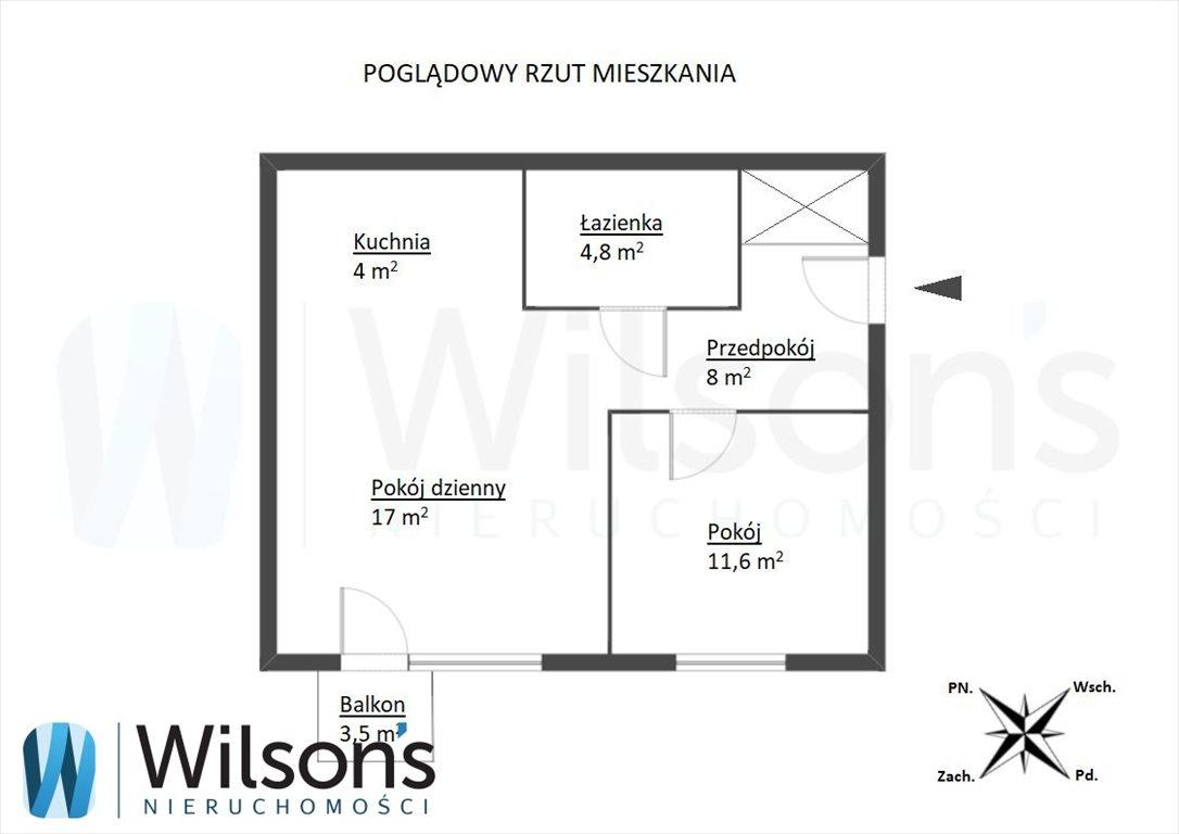 Mieszkanie dwupokojowe na sprzedaż Warszawa, Ursus, Tomcia Palucha  45m2 Foto 7