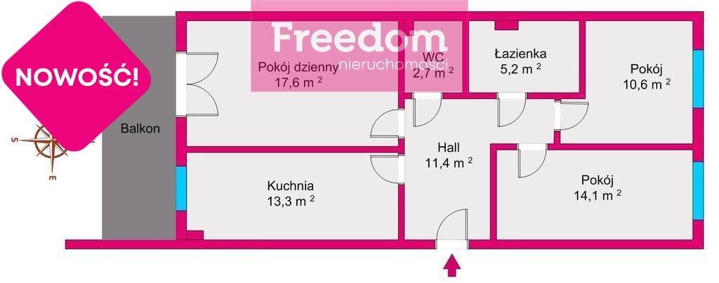 Mieszkanie trzypokojowe na sprzedaż Rzeszów, Architektów  75m2 Foto 4