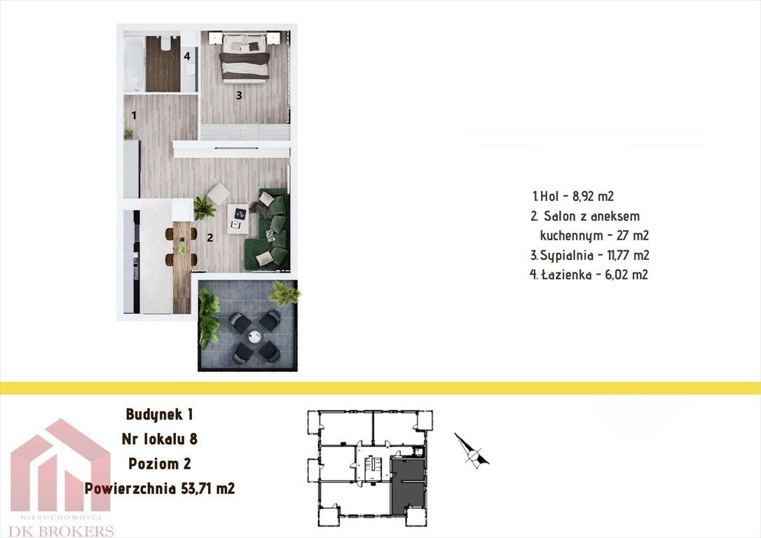 Mieszkanie dwupokojowe na sprzedaż Rzeszów, Staroniwa, Staroniwska  54m2 Foto 2