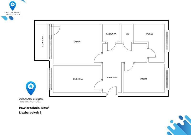 Mieszkanie trzypokojowe na sprzedaż Rumia, Kościół, Las, Park, Plac zabaw, Przedszkole, Przyc, Gdańska  59m2 Foto 6