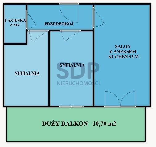 Mieszkanie trzypokojowe na sprzedaż Wrocław, Fabryczna, Popowice, Białowieska  55m2 Foto 3