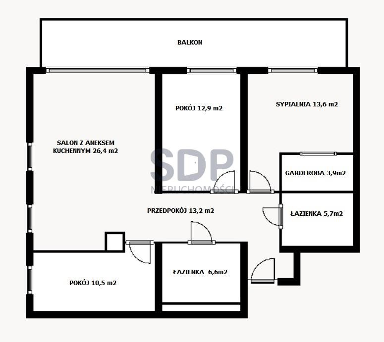 Mieszkanie czteropokojowe  na sprzedaż Wrocław, Psie Pole, Swojczyce, Bacciarellego  93m2 Foto 3
