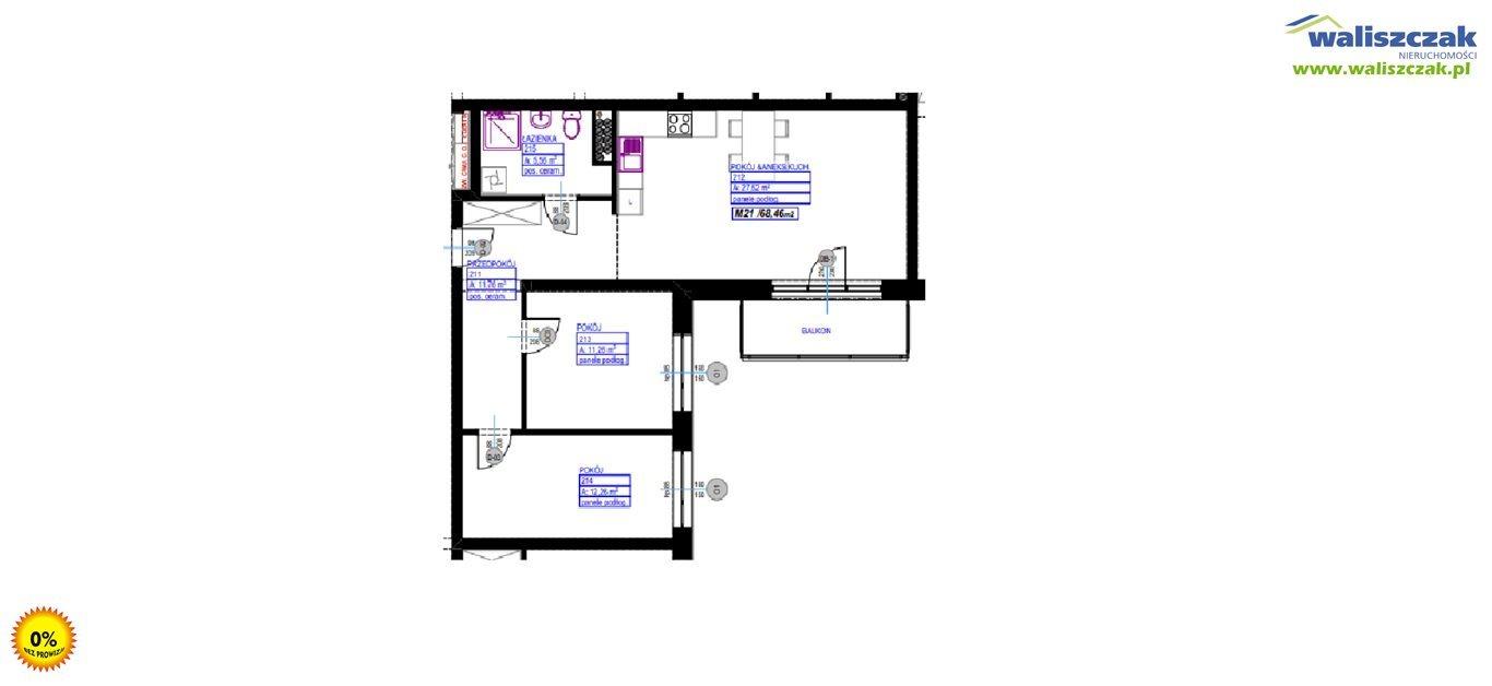 Mieszkanie trzypokojowe na sprzedaż Piotrków Trybunalski  68m2 Foto 1