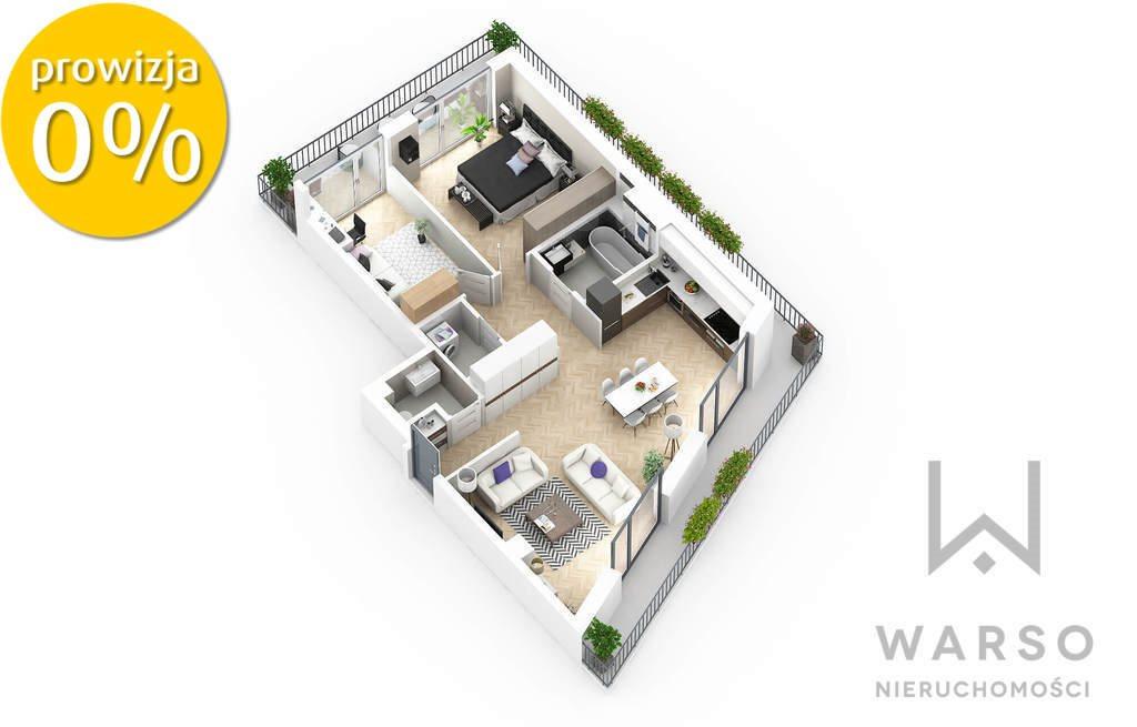 Mieszkanie trzypokojowe na sprzedaż Warszawa, Praga-Południe, Saska Kępa, Argentyńska  80m2 Foto 1