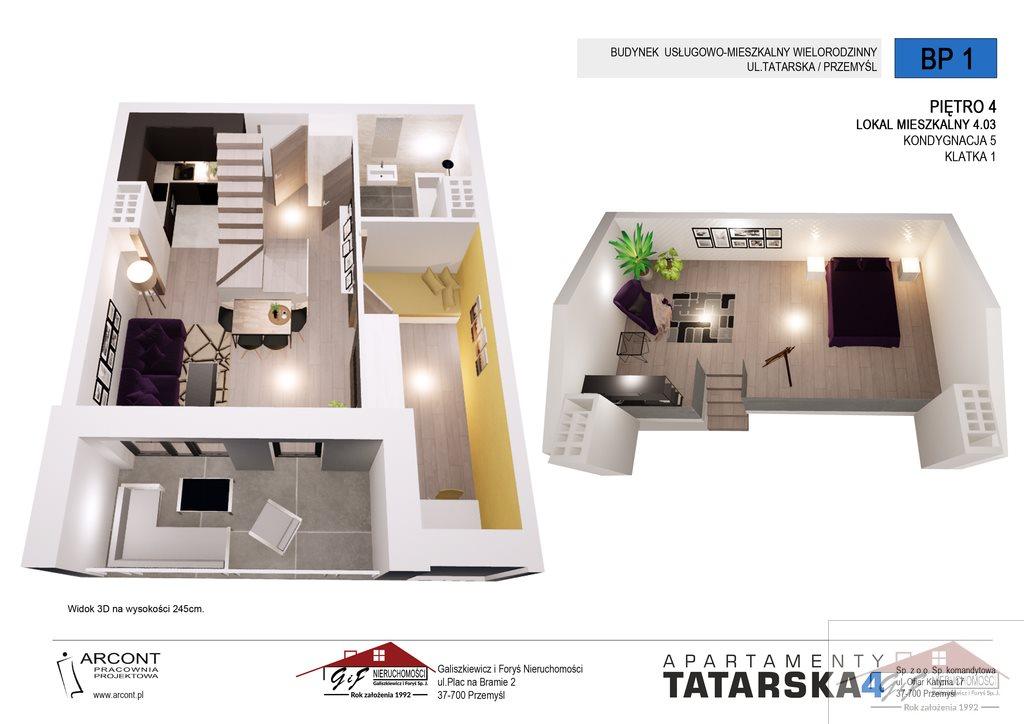 Mieszkanie trzypokojowe na sprzedaż Przemyśl, Tatarska  58m2 Foto 4