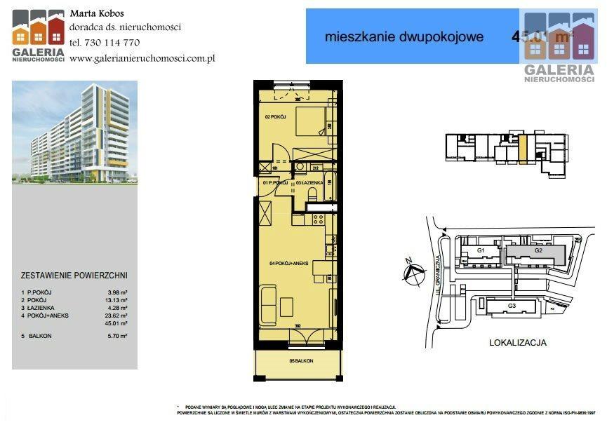 Mieszkanie dwupokojowe na sprzedaż Rzeszów, Drabinianka, Graniczna  45m2 Foto 1