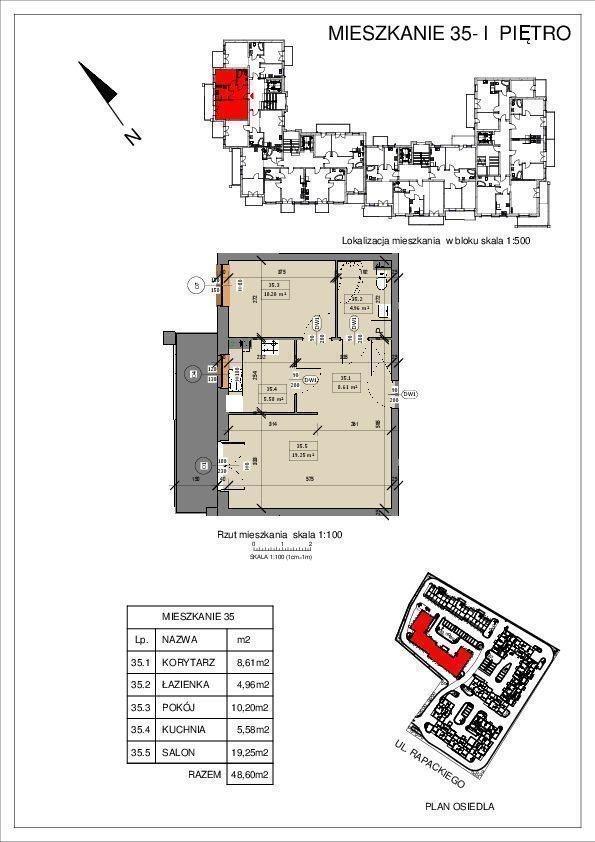 Mieszkanie dwupokojowe na sprzedaż Grudziądz  49m2 Foto 1