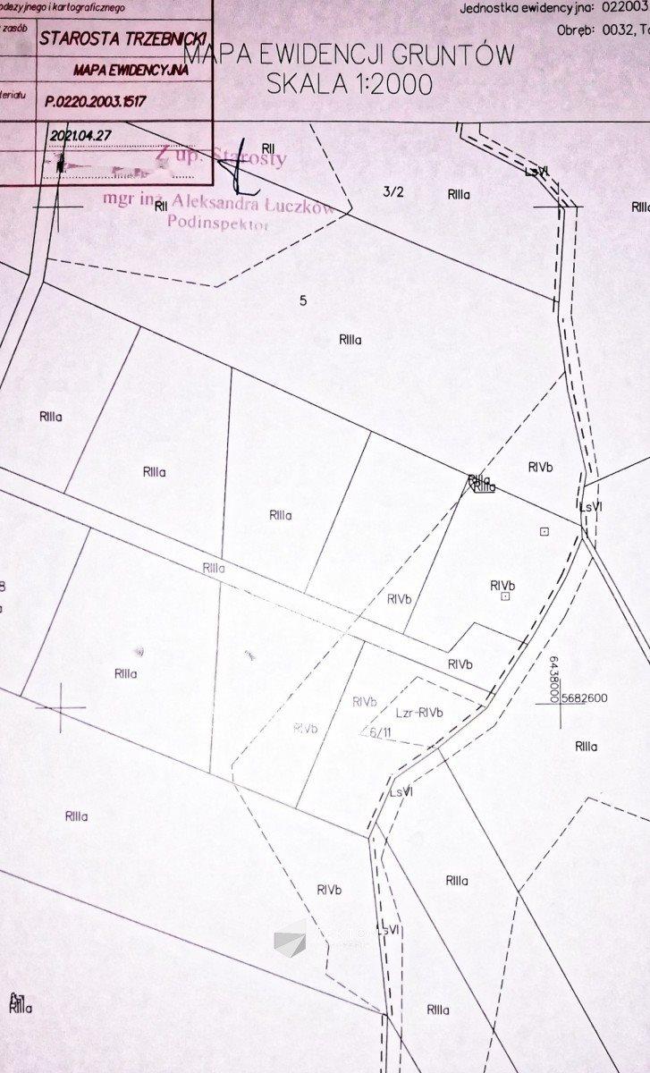 Działka siedliskowa na sprzedaż Taczów Mały, ul. Leśna  3000m2 Foto 11