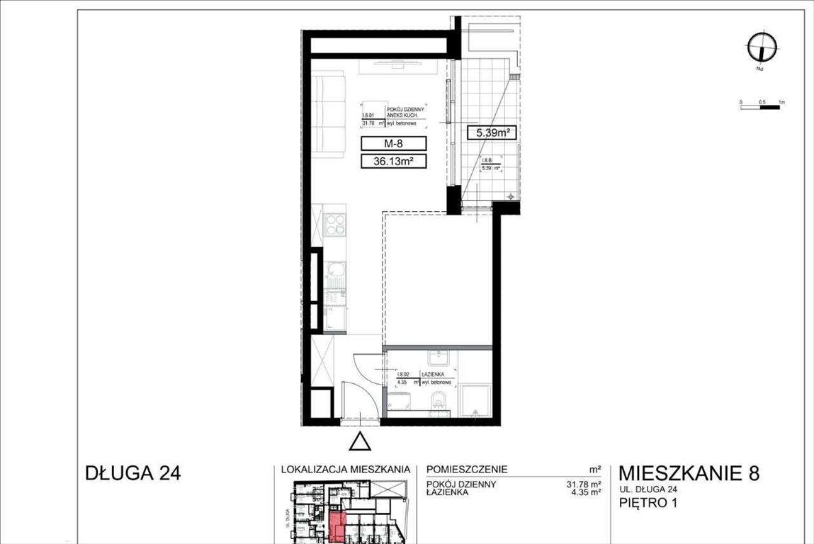 Mieszkanie dwupokojowe na sprzedaż Kraków, Stare Miasto, Długa 24  36m2 Foto 9