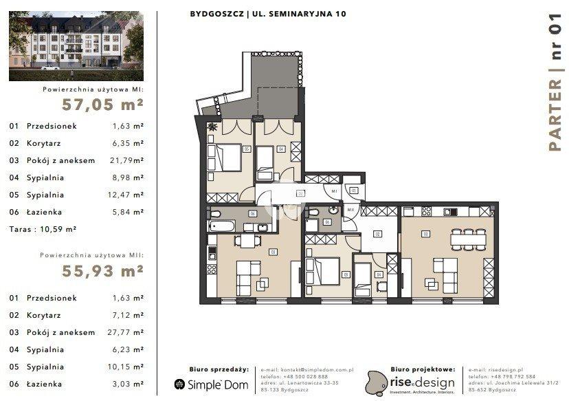 Mieszkanie na sprzedaż Bydgoszcz, Błonie, Seminaryjna  111m2 Foto 6