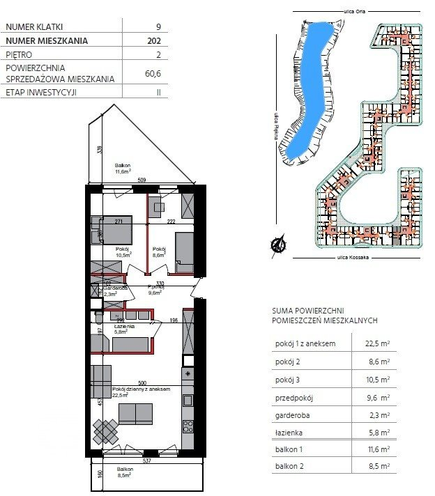 Mieszkanie trzypokojowe na sprzedaż Bydgoszcz, Szwederowo, Piękna  61m2 Foto 1