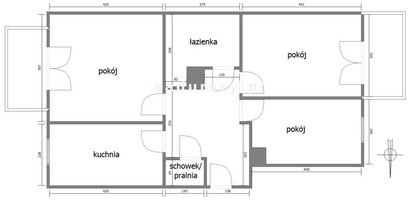 Mieszkanie trzypokojowe na sprzedaż Kraków, Krowodrza, Krowodrza Górka, Fieldorfa-Nila  65m2 Foto 3