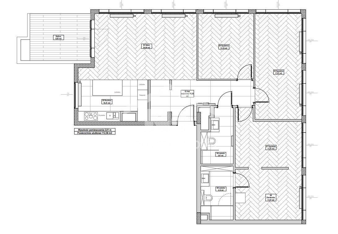 Mieszkanie czteropokojowe  na sprzedaż Warszawa, Wola, Krochmalna  112m2 Foto 2