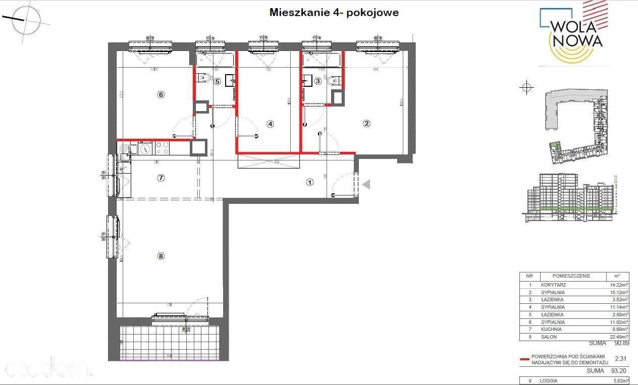 Mieszkanie czteropokojowe  na sprzedaż Warszawa, Wola, Odolany, Jana Kazimierza  93m2 Foto 13