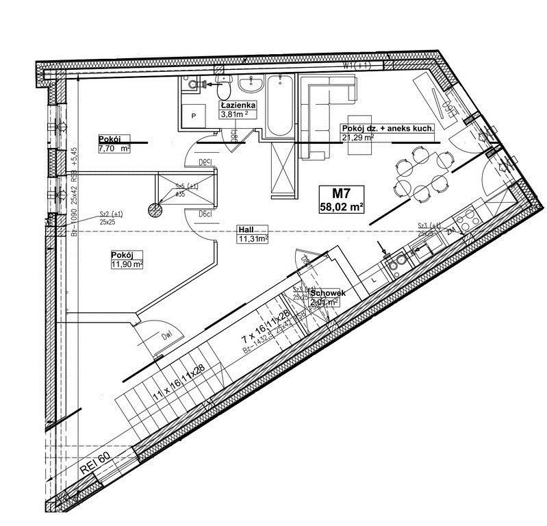 Mieszkanie trzypokojowe na sprzedaż Białystok, Centrum, Warszawska  58m2 Foto 5