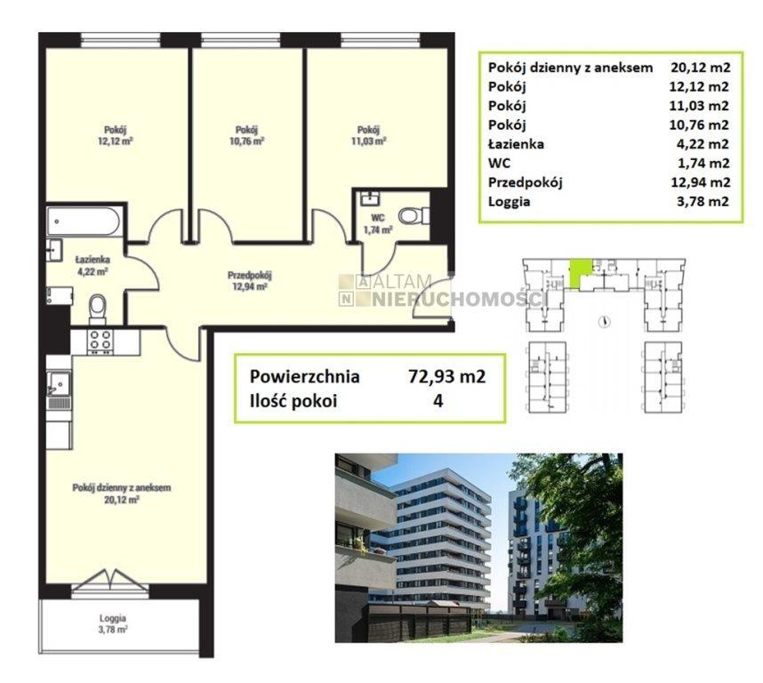 Mieszkanie czteropokojowe  na sprzedaż Kraków, Mistrzejowice, Mistrzejowice  73m2 Foto 1